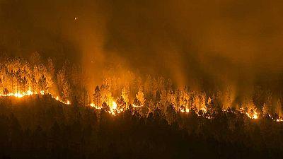 El fuego arrasa más de 3.000 hectáreas en Ourense en apenas 24 horas