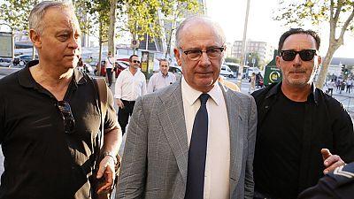 Rato declara en los juzgados sobre el fichaje de su excuñado por Bankia