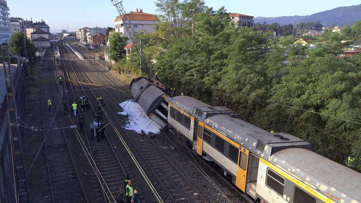 Primeros momentos tras el accidente del tren de O Porriño, Pontevedra