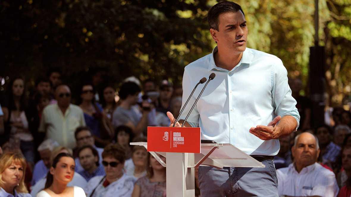 """Sánchez: """"Entre regeneración o Rajoy, algunos apostaron por Rajoy"""""""