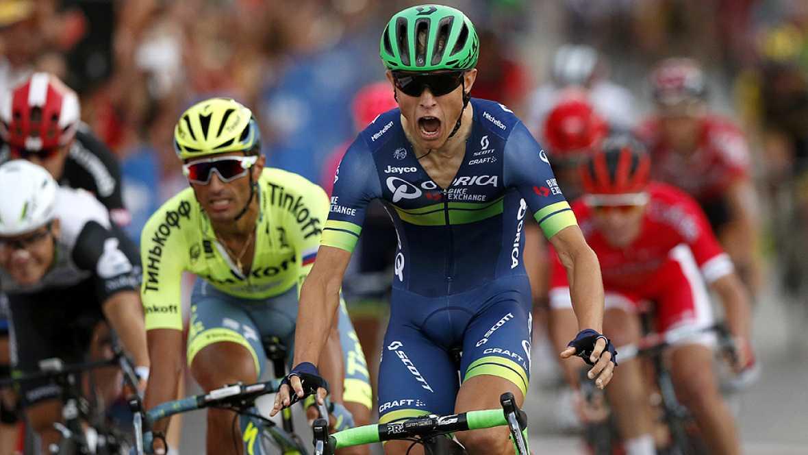 El colombiano Nairo Quintana (Movistar) se ha proclamado vencedor de la 71 edición de la Vuelta a España tras la disputa de la vigésima primera y última etapa, disputada entre Las Rozas y Madrid, de 104 kilómetros, en la que se impuso el danés Magnus