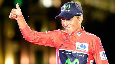 """El colombiano Nairo Quintana, ganador de la Vuelta a España 2016, consideró esta carrera como la mejor de su vida """"por el escenario"""" en el que la consiguió y """"por los rivales"""" a los que se enfrentó, entre ellos dos grandes como Chris Froome y Alberto"""