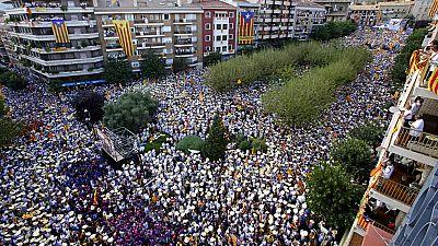 Multitudinaria manifestación por la Diada de Cataluña