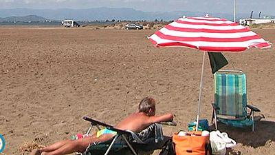 Masificación en la playa del Trabucador