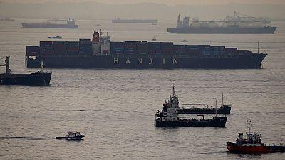 """La quiebra de la naviera surcoreana Hanjin deja a la """"deriva"""" un centenar de barcos y miles de millones en mercancía"""
