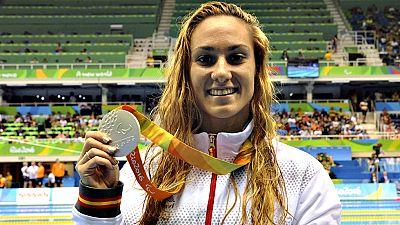 La nadadora catalana Sarai Gascón ha dado la duodécima medalla a  España en los Juegos Paralímpicos de Río de Janeiro tras conquistar  este lunes la plata en los 100 metros libres S9, mientras que Nuria  Marqués ha sido cuarta.