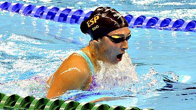 La nadadora valenciana Ariadna Edo ha dado la décima medalla a  España en los Juegos Paralímpicos de Río de Janeiro tras conquistar  este lunes el bronce en los 400 metros libres S13.