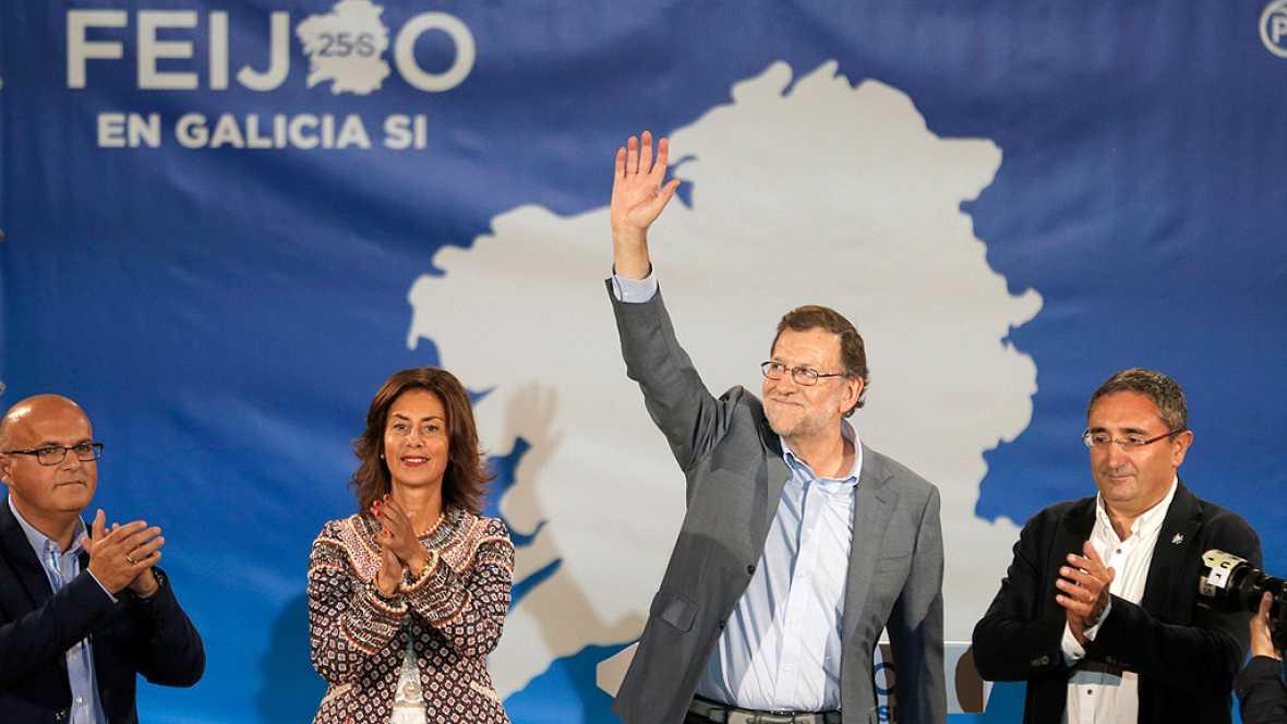 """Rajoy pide hacer realidad la coalición del PP """"con los gallegos"""""""