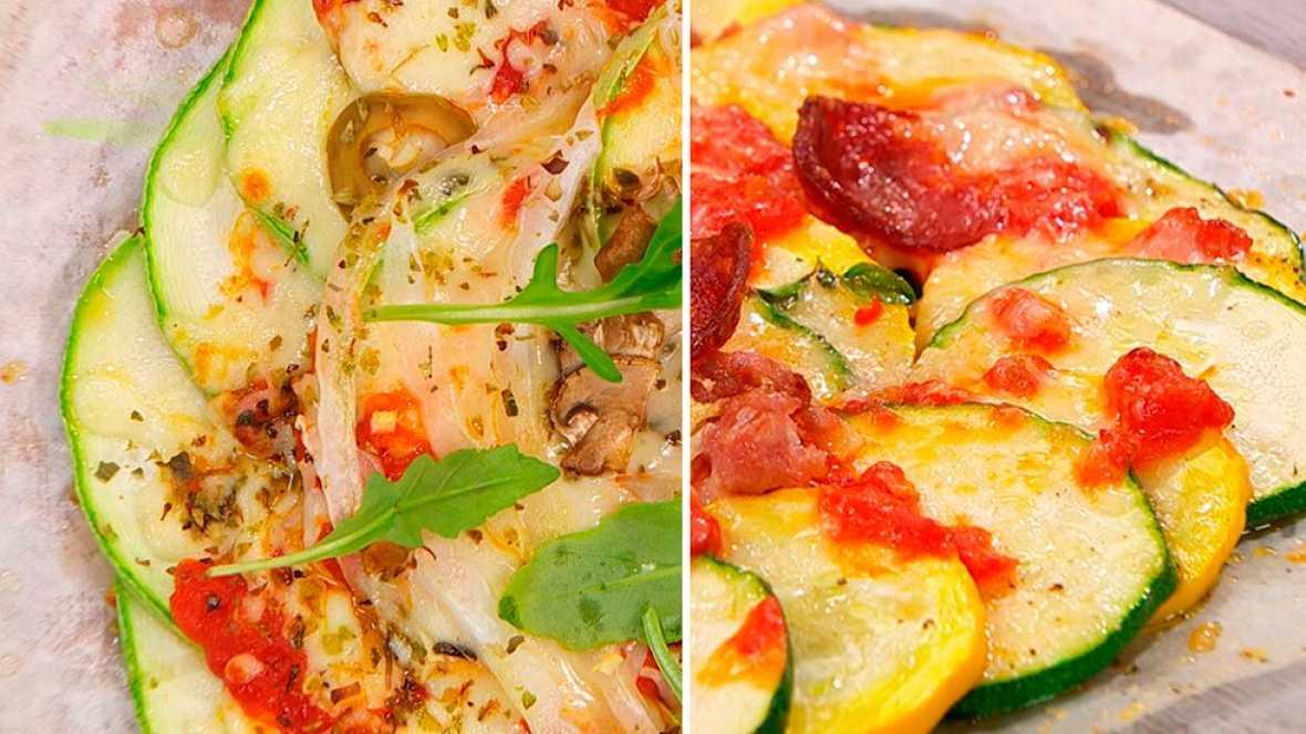 Torres en la cocina - Receta de pizza de calabacín y chorizo