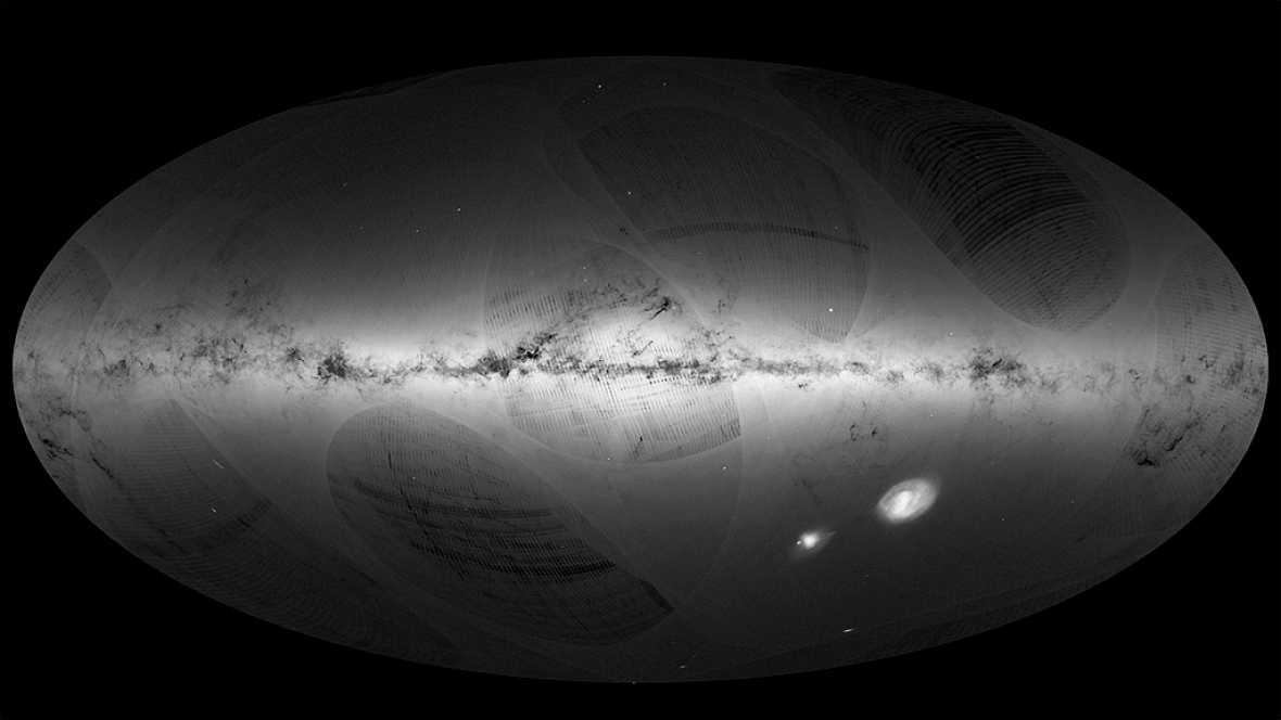 La Agencia Espacial Europea ha presentado el primer catálogo de 2 millones de estrellas de la Vía Láctea