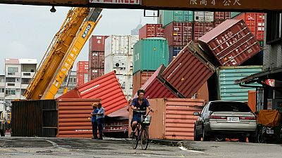 El supertifón Meranti llega a China tras su paso por Taiwán