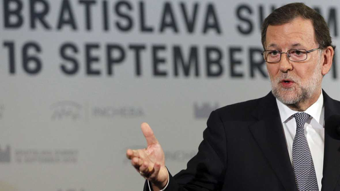 """Rajoy asegura que en la UE están """"sorprendidos"""" por el bloqueo político en España"""