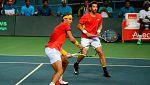 España vuelve al Grupo Mundial tras la victoria de Nadal y López en dobles
