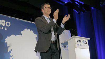 """Feijóo pide el voto para evitar que """"el populismo se instale"""" en la Xunta de Galicia"""