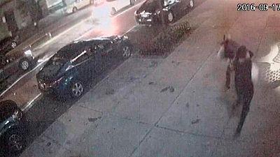Las cámaras de seguridad recogen la explosión en el centro de Nueva York