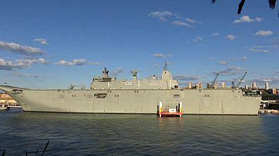 Así son los buques anfibio que Navantia ha construido para la Marina australiana