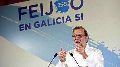 Mariano Rajoy pide el voto para revalidar la mayoría absoluta del PP en Galicia