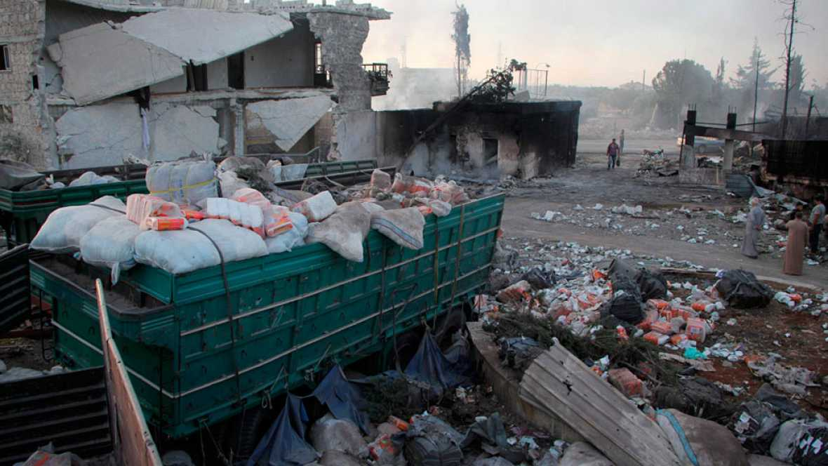 La ONU paraliza sus actividades en Siria tras el bombardeo aéreo de un convoy humanitario que dejó una veintena de muertos