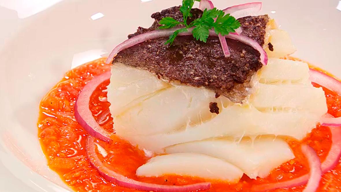 Receta de bacalao con olivada for Cocinar cocochas de bacalao