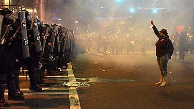 Un herido crítico en las protestas de Charlotte en Carolina del Norte