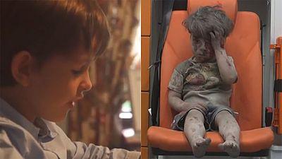 Un niño estadounidense escribe a Obama para que traiga al pequeño sirio Omran, herido en Alepo