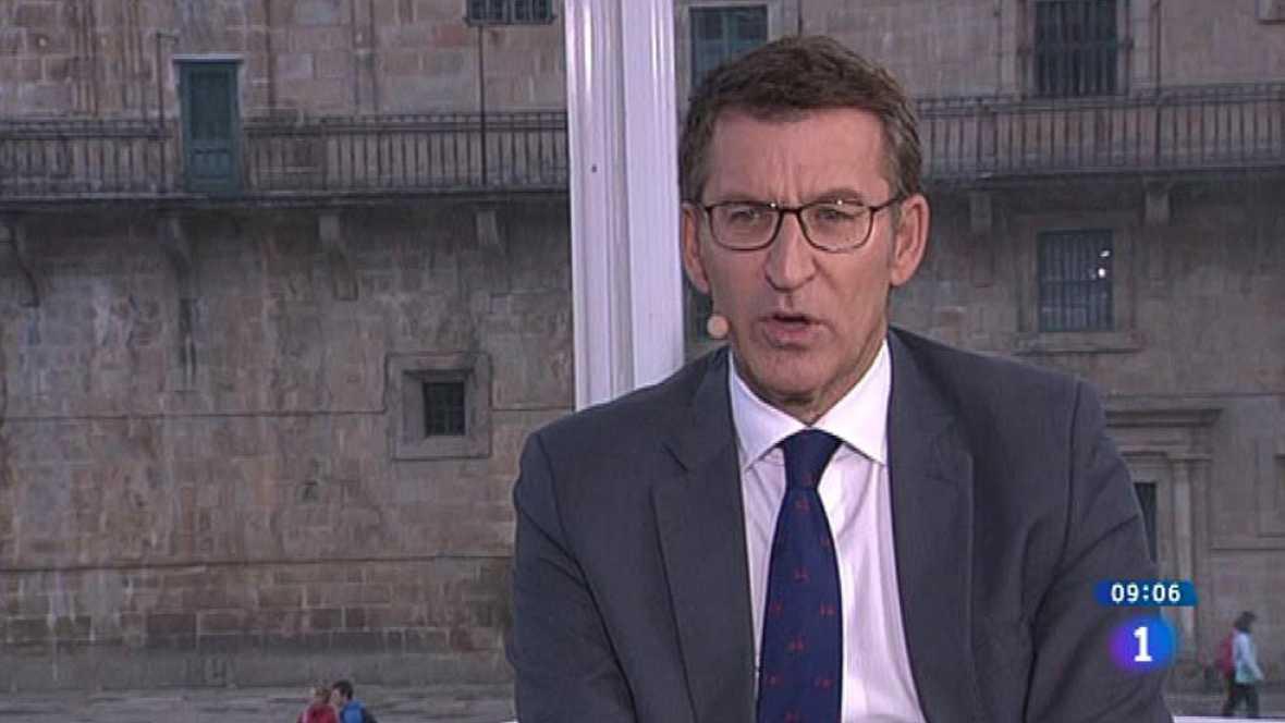 """Feijóo apela al voto útil para frenar a las Mareas y evitar un """"bloqueo o parálisis"""" institucional en Galicia"""