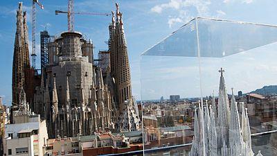 La torre principal de la Sagrada Familia cambiará el perfil de Barcelona en 2020