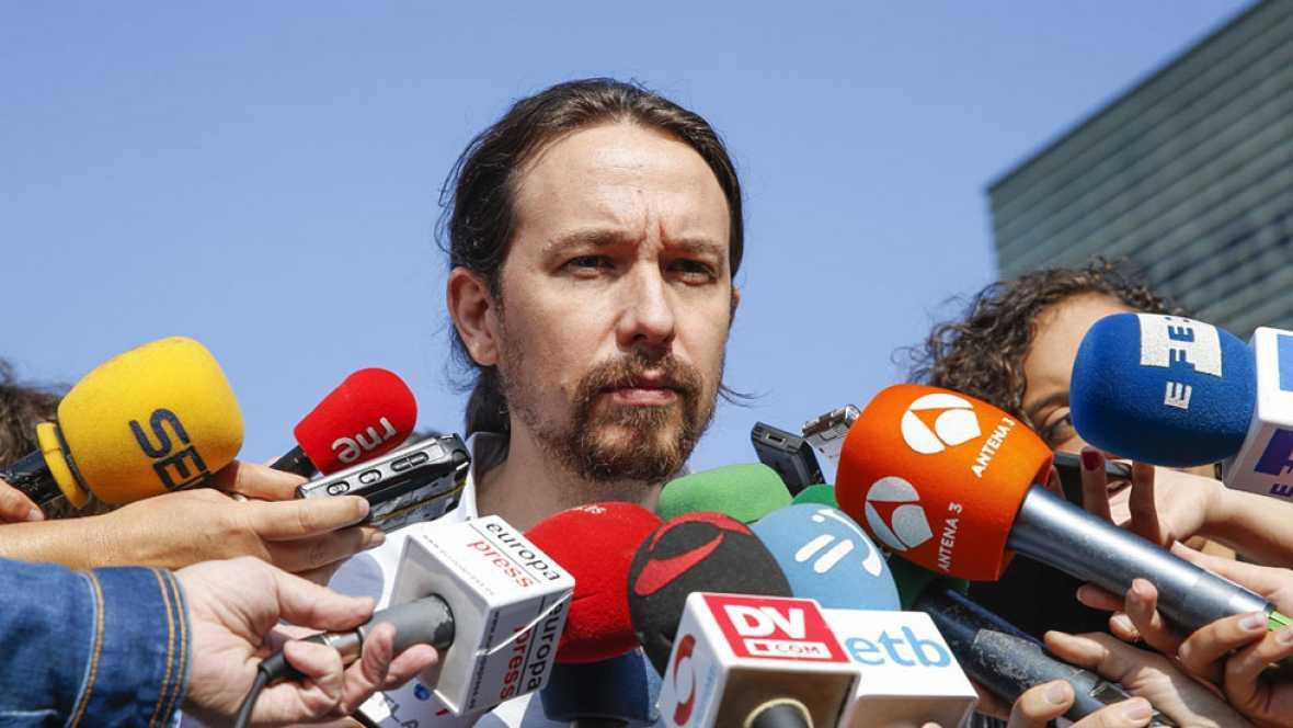 """Iglesias espera la llamada de Sánchez y Rivera advierte de que """"no se puede formar gobierno para ser presidente tres cuartos de hora"""""""