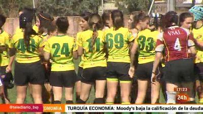 La selección femenina de rugby reivindica la lucha contra la violencia de género