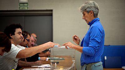 La participación en Euskadi es del 44,4% a las 17:00 horas, 2,8 puntos menos que en las elecciones de 2012