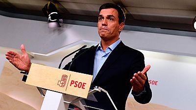 """Sánchez reta a los críticos del PSOE:  """"Quien tenga un proyecto mejor, que dé un paso al frente"""""""