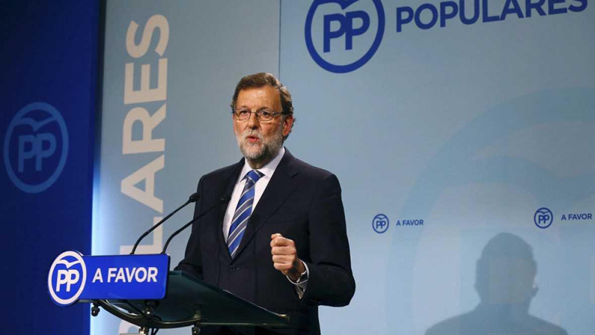 Rajoy mantiene que la mejor opción es un gobierno del PP con PSOE y C's