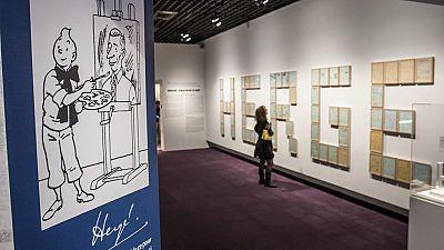 Tintín y su pandilla toman las galerías del Grand Palais de París