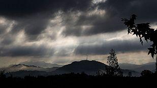 Nubes en el Mediterráneo con lluvias fuertes en Comunidad Valenciana