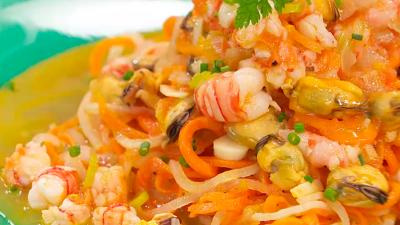 Receta de espaguetis vegetales a la marinera