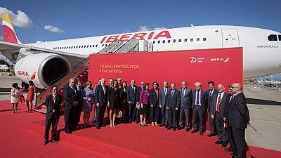Iberia conmemora el setenta aniversario de su primer vuelo transatlántico