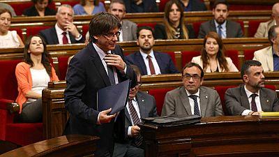 Puigdemont anuncia un refer�ndum para septiembre de 2017 con o sin aval del Estado