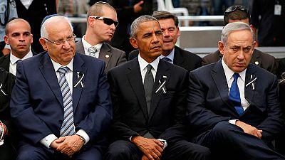 Los líderes mundiales despiden a Simón Peres en un funeral blindado en Jerusalén