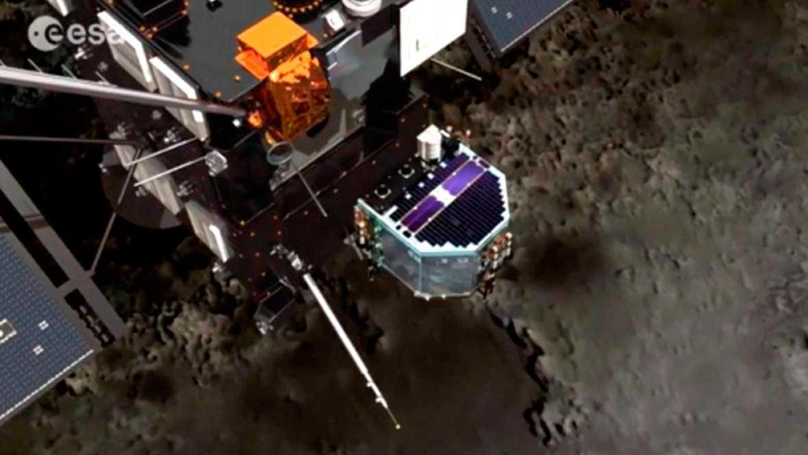 Resultado de imagen de La nave Rosetta concluye la misión tras tocar la superficie del cometa 67P