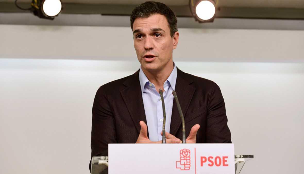 """Sánchez se despide mostrando su """"orgullo"""" por el PSOE y mostrando """"lealtad"""" a la gestora"""