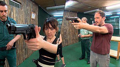 Olmos y Robles - ¡Así preparan 'Atiza y Arrea' las escenas de acción!