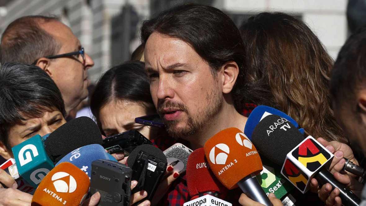 """Iglesias ve """"claro"""" que la gestora del PSOE """"quiere la abstención"""""""