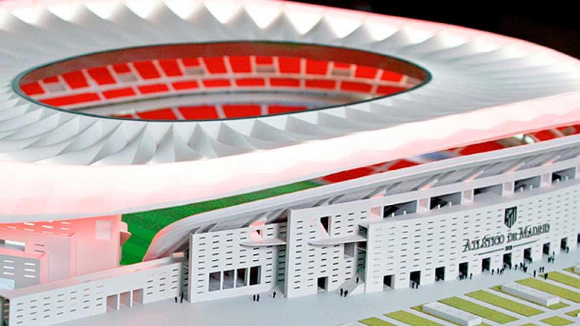 Las obras del nuevo estadio del Atlético de Madrid siguen el calendario