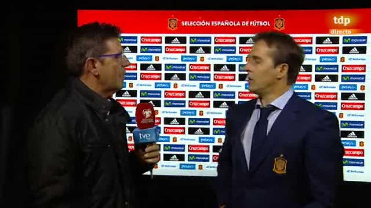 """El seleccionador español valora como """"bueno"""" el partido de la Roja pero reconoce que a Italia nunca hay que darla por muerta."""