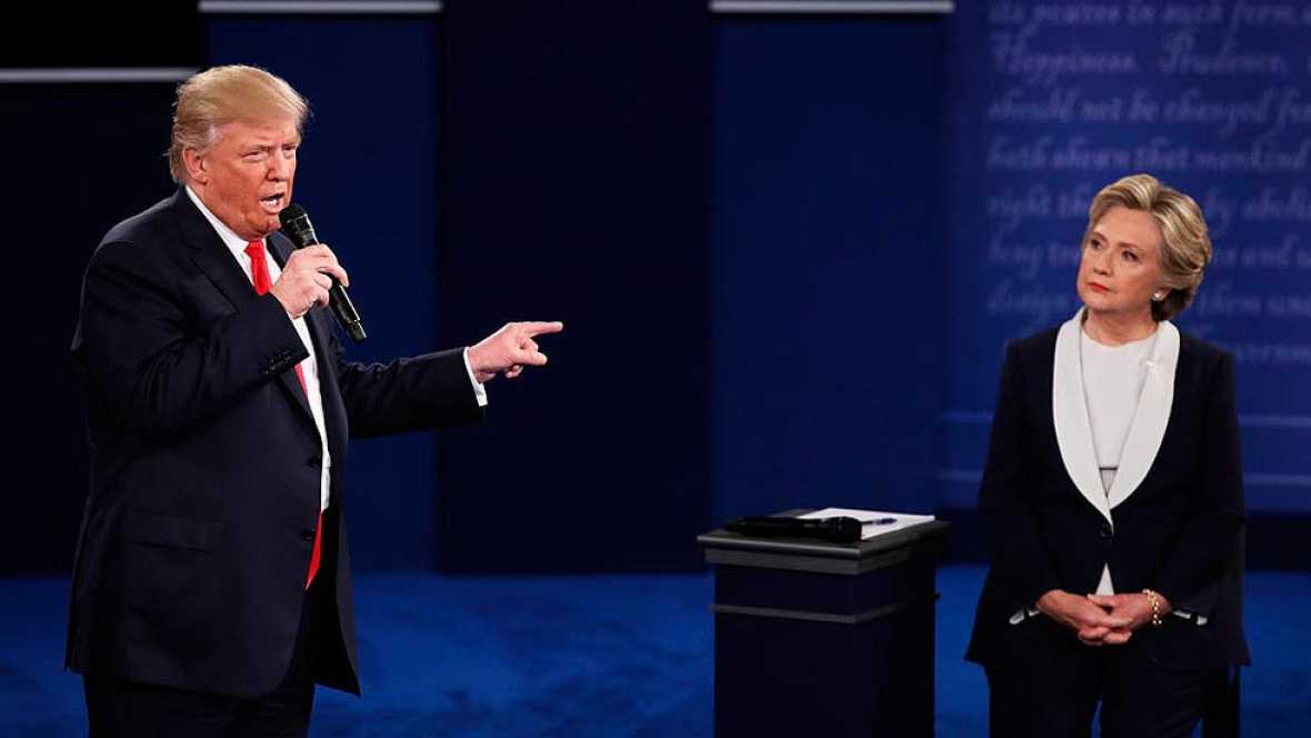 El segundo duelo Trump-Clinton deja un nuevo capítulo de crispación y acusaciones