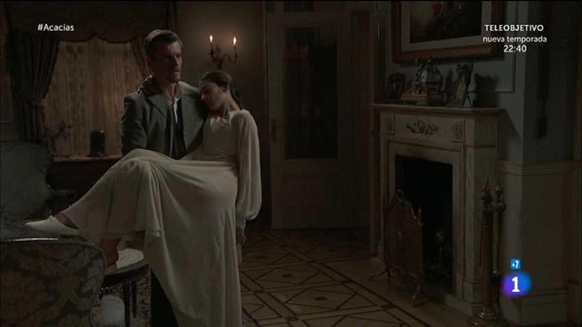 Cayetana pilla a Mauro intentando llevarse a Teresa con él