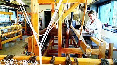 Un taller de hilanderas