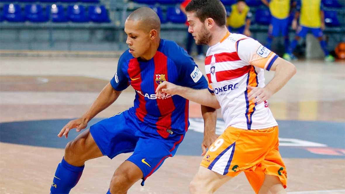 El Barcelona Lassa logró su primer triunfo del curso. Fue a costa del Plásticos Romero Cartagena, al que venció por una ajustado 5-4. Los azulgranas fueron ganando por 4-1.