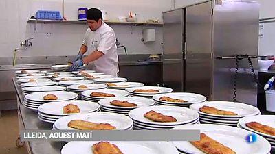 Una escola de Lleida aprofita el seu menjar excedent i el du a la Fundació Arrels