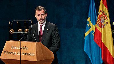 """Premios Princesa de Asturias- Felipe VI reclama """"una España alejada del pesimismo"""""""